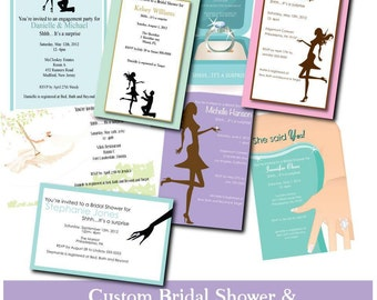Custom Engagement & Bridal Shower Invitations