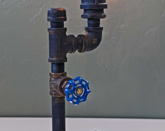 "Steampunk / Industrial style table lamp ""Gas Lamp"""