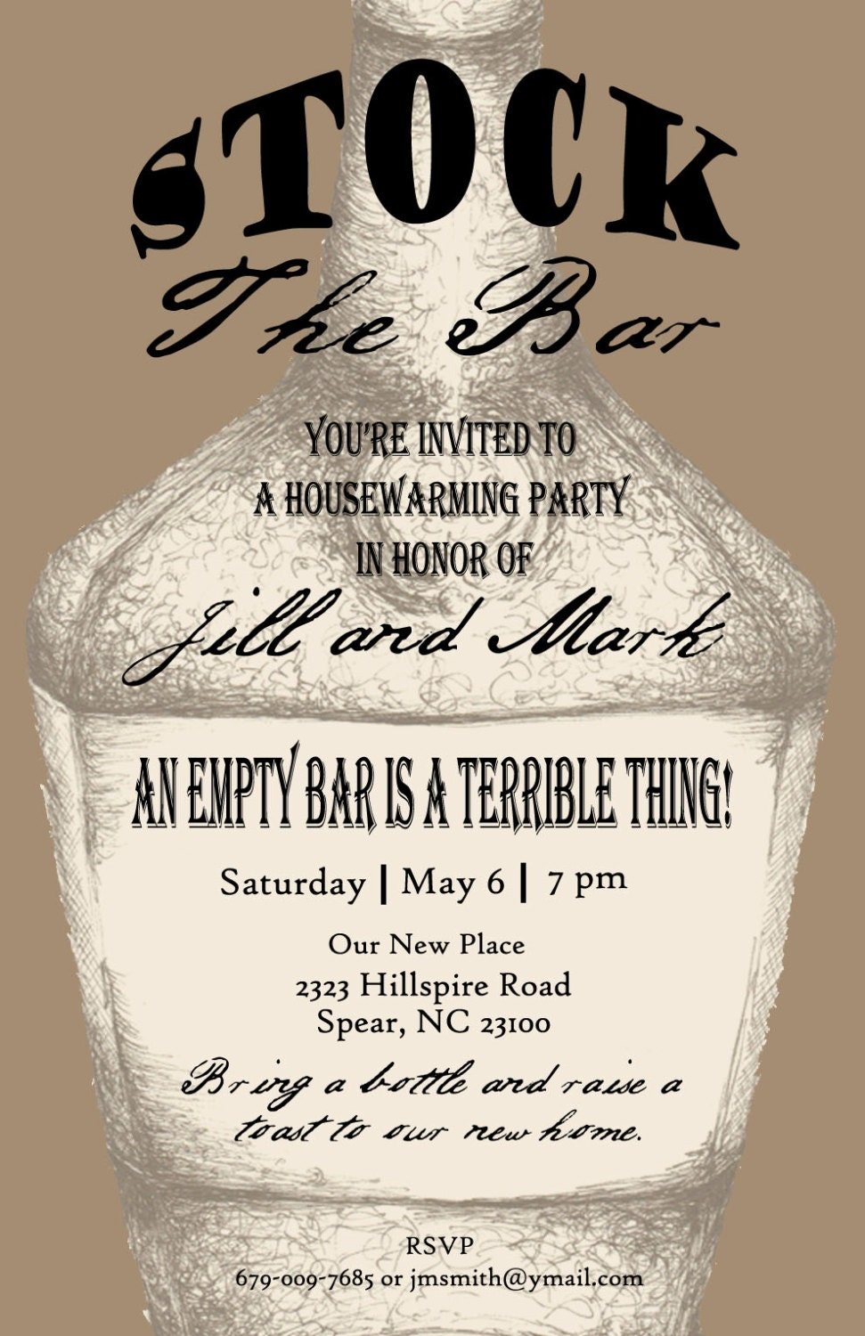 Stock The Bar Party Invitation Wording with luxury invitation template