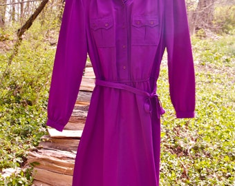 Perfectly Plum Sassoon Full Sleeved Shirt Dress 6/7