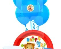 Daniel Tiger Party Pack, Daniel Tiger Plate/Cup Sticker Printable, Cupcake Toppers, Daniel Tiger Printables-YOU PRINT