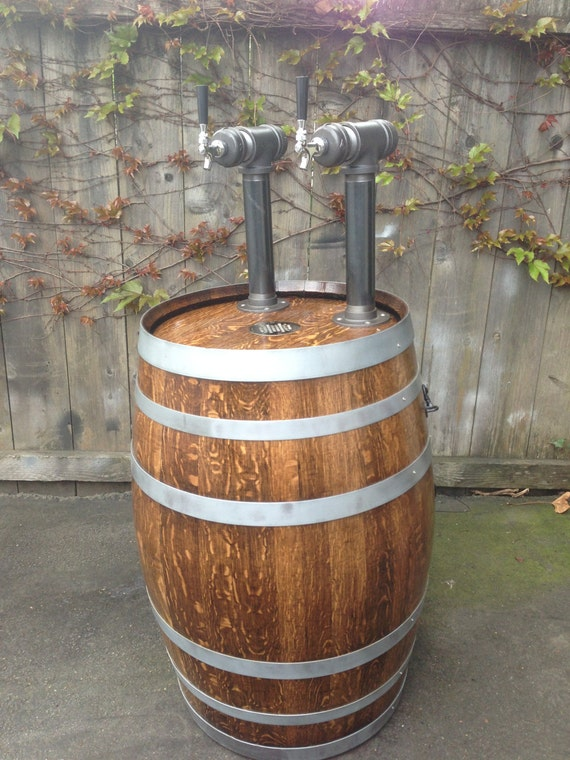 Items Similar To Wine Barrel Kegerator Double Tap System On Etsy