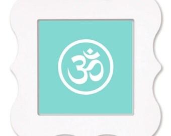 Namaste - Yoga Typography Art Print - 12 x 12 in.