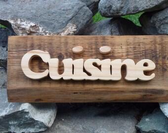 Rustic kitchen wooden plaque, wall plaque, kitchen plaque, barn wood plaque, kitchen decor, shabby kitchen, wooden word.