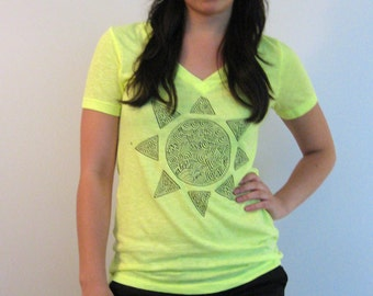 Hand Painted Sun T-Shirt