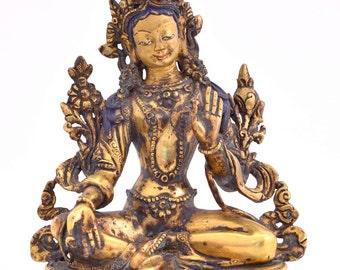 Green Tara - Beautiful small classic Buddhist statue