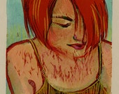 Red Head Woman Original W...