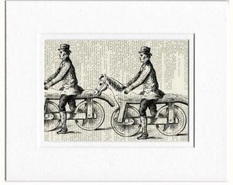Horse Bike II dictionary page print