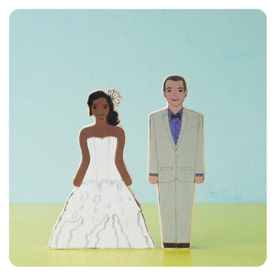 Custom Wedding Cake Topper Couple