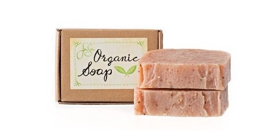 JenSan Patchouli Rose Organic Soap handmade with Shea Butter, Essential Oil, Eco friendly, 4.5 oz, 128 grams