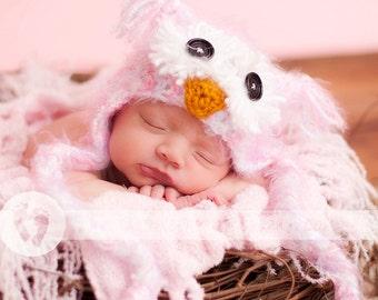 Baby Girls Owl Hat Newborn 3m 6m Crochet Soft Fuzzy Pink Hat Photo Prop Animal Baby Girls Clothes  Perfect year round