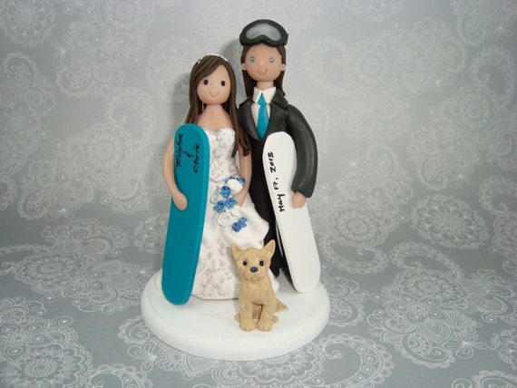 ski wedding cake toppers uk custom handmade snowboard ski theme with a by mudcards 20181