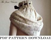 Hooded Cowl Knitting PATTERN, Alasse Miriel, PDF DOWNLOAD