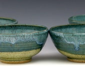 Turquoise, Green Cereal Bowl - Caribbean Glaze Combination