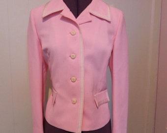Vintage Jacket 60s Pink Gidding Jenny Jacket M - on sale