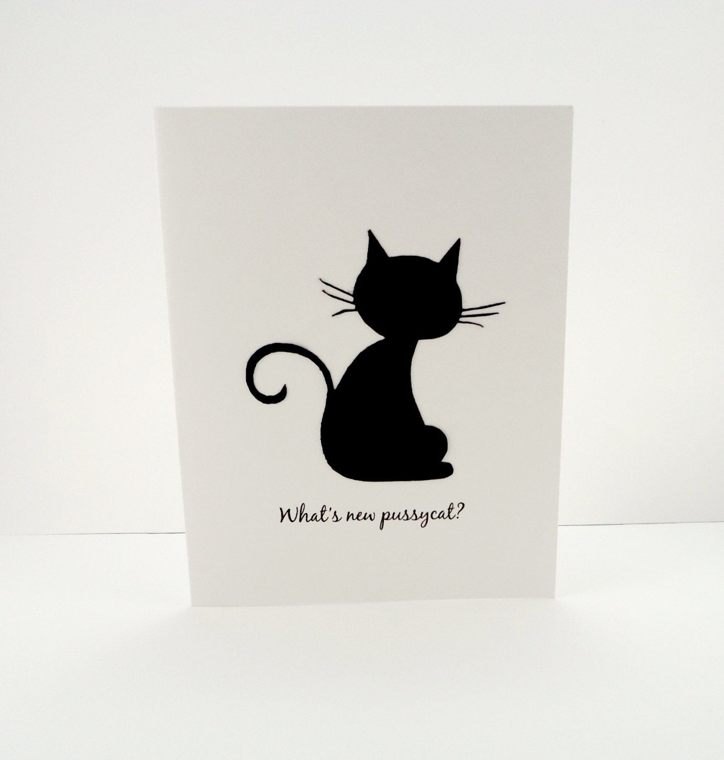 cat note card