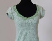 SAMPLE SALE Lace Double Knit Burnout Tee Size XS
