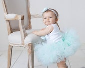 Baby Girls Birthday Tutu Dress Outfit, Sweet Mint Tutu Baby Dress