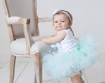 Baby Girls Birthday Tutu Dress Outfit  Sweet Mint to Be Tutu Baby Dress