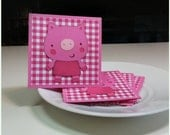 Precious Piggie-  Pig Piglet Mini Cards ( Set of 4)