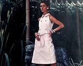 60s PIERRE BALMAIN A Line Sleeveless Coatdress Pattern Vogue Paris Original 1612 Vintage Sewing Pattern Size 16 Bust 36 inches