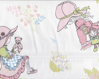 Vintage 1970s Holly Hobbie Fabric Patchwork Craft Repurpose Cotton UNUSED PIECES