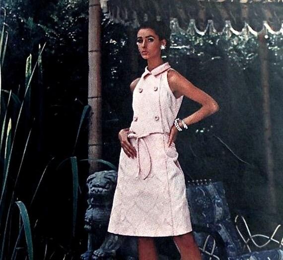 60s PIERRE BALMAIN A Line Sleeveless Coatdress Pattern Vogue