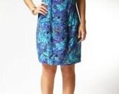 vintage 1960s dress / 60s multi color floral dress / Heart of Summer Dress