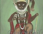Hanuman the Hindu God Notecard