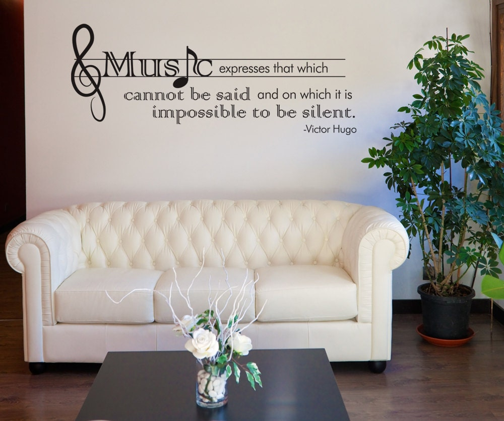 Wall Decals Quotes: Vinyl Wall Decal Sticker Victor Hugo Music Quote OSDC524s
