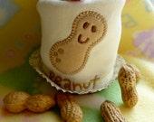 Peanut Baby Onesie..Peanut Appliqued Infant Bodysuit..Onesie Cupcake.. 100% Organic Cotton...Boy, Girl or Neutral...My Little Peanut :)