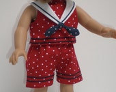 SHORTS (Red & White Polka Dot) Sailor Suit 18 inch doll clothes