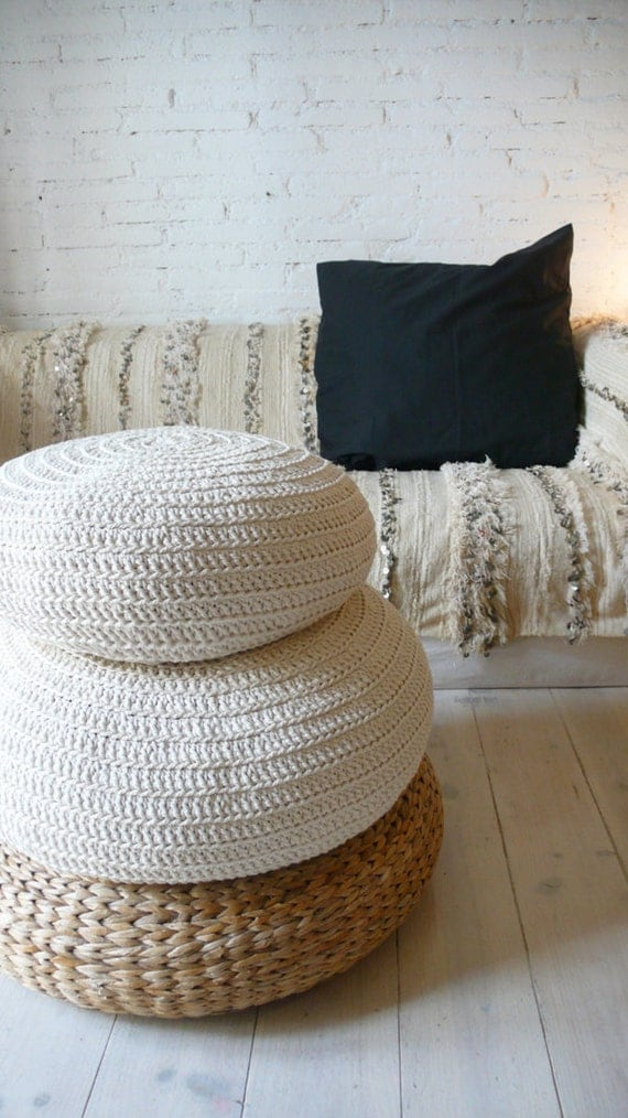 Etsy Large Floor Pillows : RESERVED for lanahornigold Large Floor Cushion Crochet