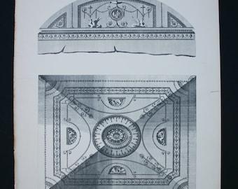 Architectural Print Robert Adam British antique 1900 18th century design imagery