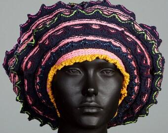 Humungous Pink & Orangy Crochet Hat...