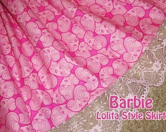 HOT Pink Barbie Lolita Style Skirt- ANY SIZE