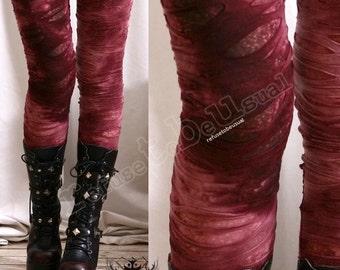 Punk Decay Distressed Broken Hole Burnout Bloody Tie Dye Mummy Legging S.M.L.XL.XXL