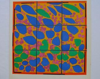 Original Lithograph Print Henri Matisse Lierre en Fleur 1953 Verve Vol. IX Nos 35 & 36 1958 Mourlot Freres Paper Cut Outs Gouaches Découpés
