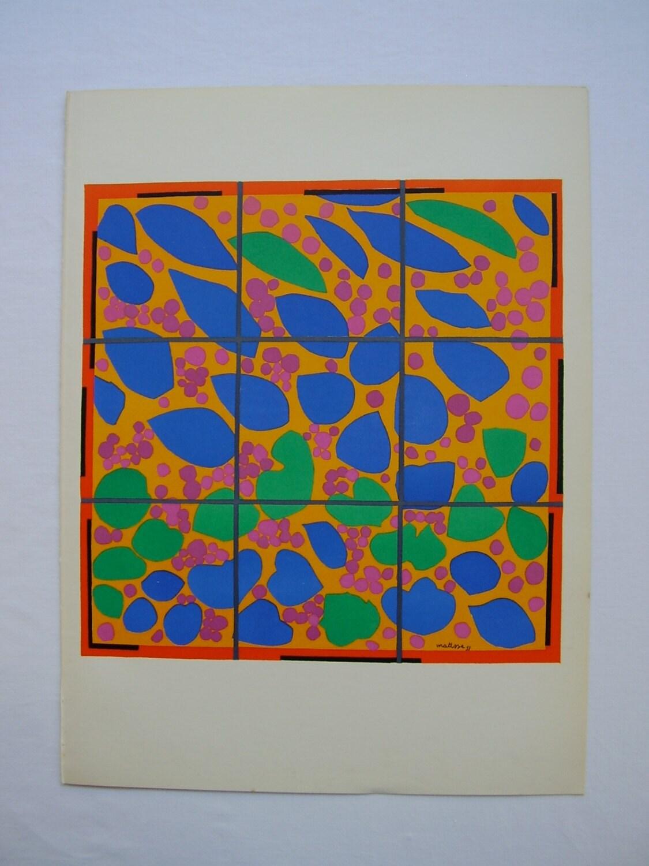 Original Lithograph Print Henri Matisse Lierre En Fleur 1953
