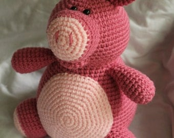 Arnold the Pig - Amigurumi Plush Crochet PATTERN ONLY (PDF)