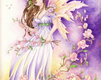 "Fairy Art Print ""Southern Breeze"" Fantasy Faerie Art Print"
