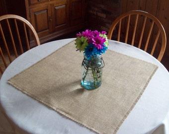Set of 10 Burlap Table Squares, Wedding Decorations, Wedding Table Squares, Country Wedding Table Decor, Rustic Fall Wedding Table Decor