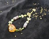 Amber Wood Dragonfly Bracelet