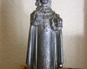 """Early 1900's INFANT Of PRAGUE  4"""" Vintage Metal Patron Saint Figurines Statue- Great for any collector"""