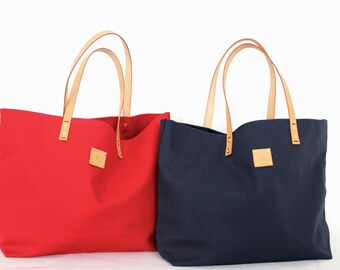 Canvas Tote... SPECIALIZED LABEL... NAVY tote bag