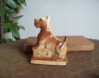 Vintage scottie dog planter terrier