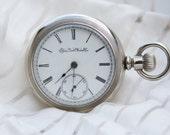 1895 Elgin Antique Pocket Watch Sidewinder Working - Winds, Runs, & Ticks - 11j 18s - Nearly 120 Years Old