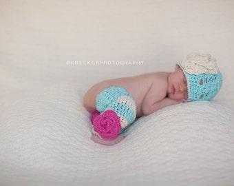 newborn hat, baby girl hat, newborn baby hat, newborn girls hat, baby hat, crochet baby hat