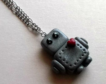 Super Cute Robot Necklace - The LoveBot