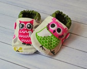 Adorable Owl Shoes. Cotton Lined.